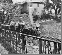 Walt Disney on the #173 Lilly Belle crossing a CPRR tressel - www.WaltsApartment.com