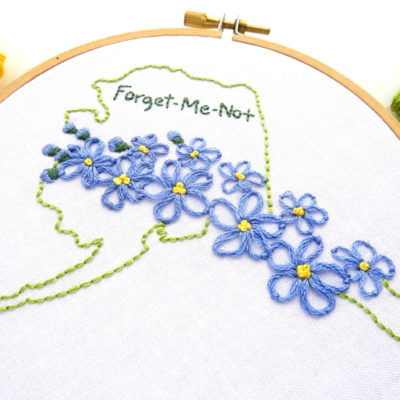 State Flowers Archives - Wandering Threads Embroidery