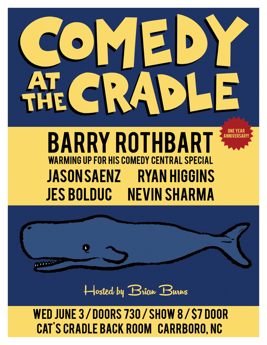 COMEDY AT THE CRADLE JUNE 2015 WEB