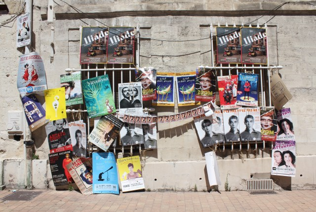 Posters on the streets at the Avignon Festival, France