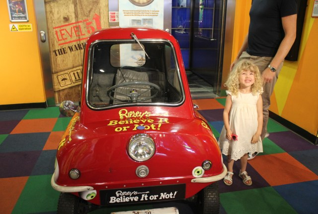 The world's smallest car at Ripley's Believe It Or Not