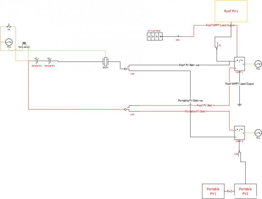 wiring diagram just Pv  camper battery - 2005 Hawk Shell - Gallery