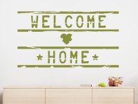 Wandtattoo Welcome Home Lightbox | WANDTATTOO.DE