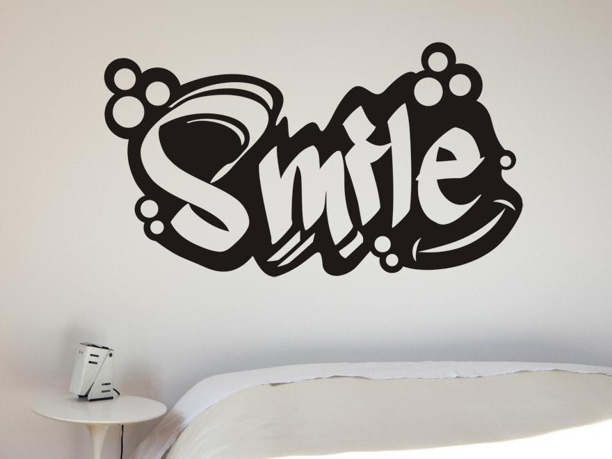 Die Wallpaper With Quotes Wandtattoo Schriftzug Smile Von Wandtattoo Net