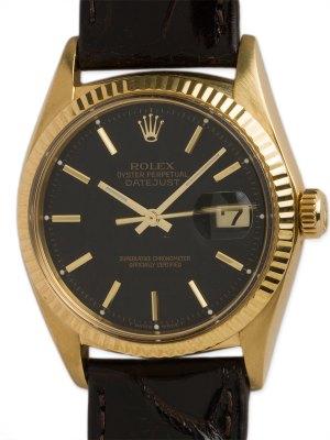 Rolex 18K YG Datejust ref 1601 circa 1965