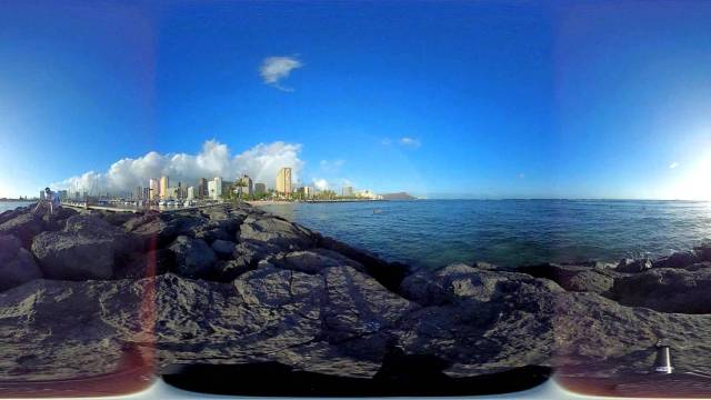 360 degree time lapse Ala Wai Marina at sunset
