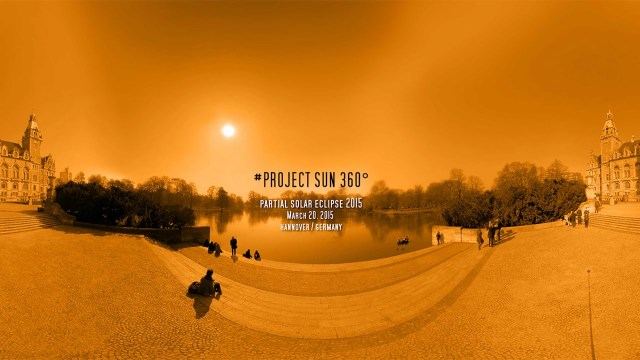 360° Video: #PROJECT SUN 360° partial solar eclipse 2015 March 20, 2015  hanover / germany
