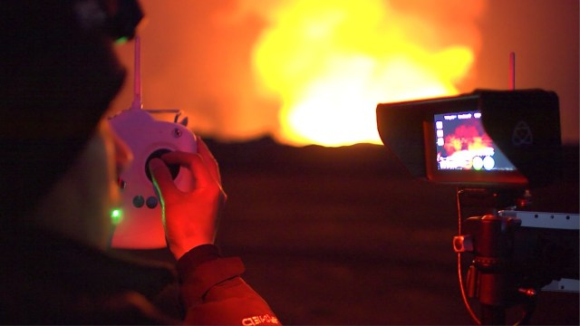 DJI Feats: Eruption at Bardarbunga Volcano (montage)