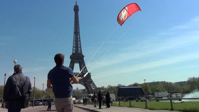 Kitesurf in Paris – Antoine Auriol
