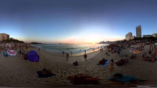 Vídeo 360 graus Pôr do Sol no Arpoador