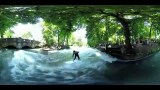 360° Panoramavideo Eisbach River Surfing