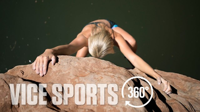 360° Deep Water Soloing with Climber Sierra Blair-Coyle