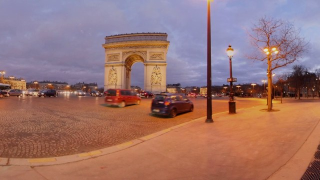 Paris in 360 degrees Arch de Triumph