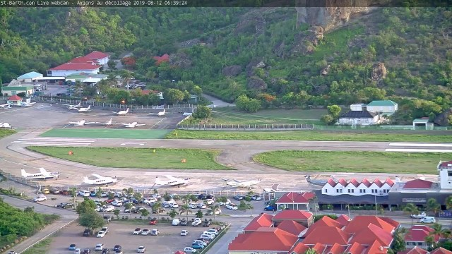 St-Barth.com Live Webcam – Avions au décollage