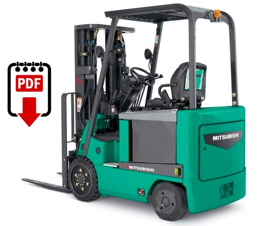 Mitsubishi forklift FBC15 series manuals Download PDFs instantly