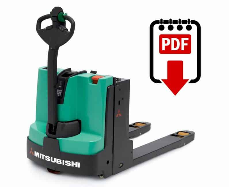 Mitsubishi forklift PMW20 series manuals Download PDFs instantly