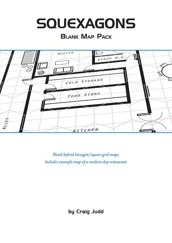 Squexagons - Blank Map Pack - PowerFrame Games Map Packs Wargame