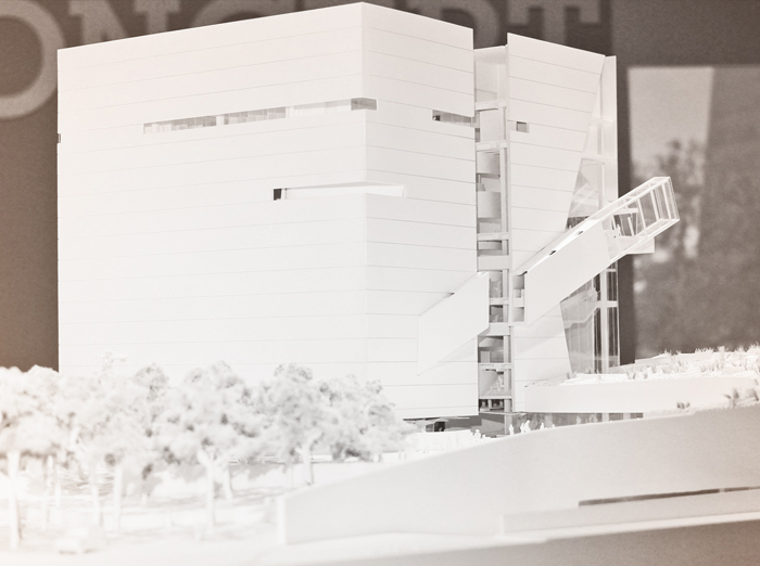 model of perot museum
