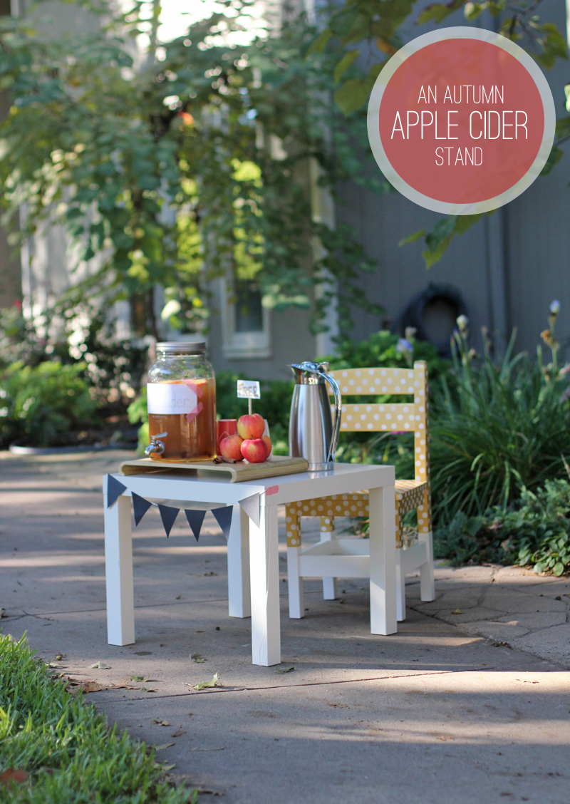autumn apple cider stand for kids