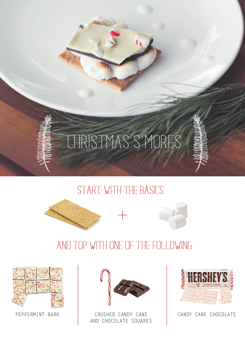 candy cane christmas s'mores: 3 ways
