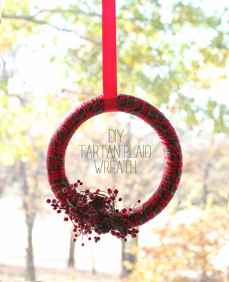 Super simple diy tartan plaid wreath