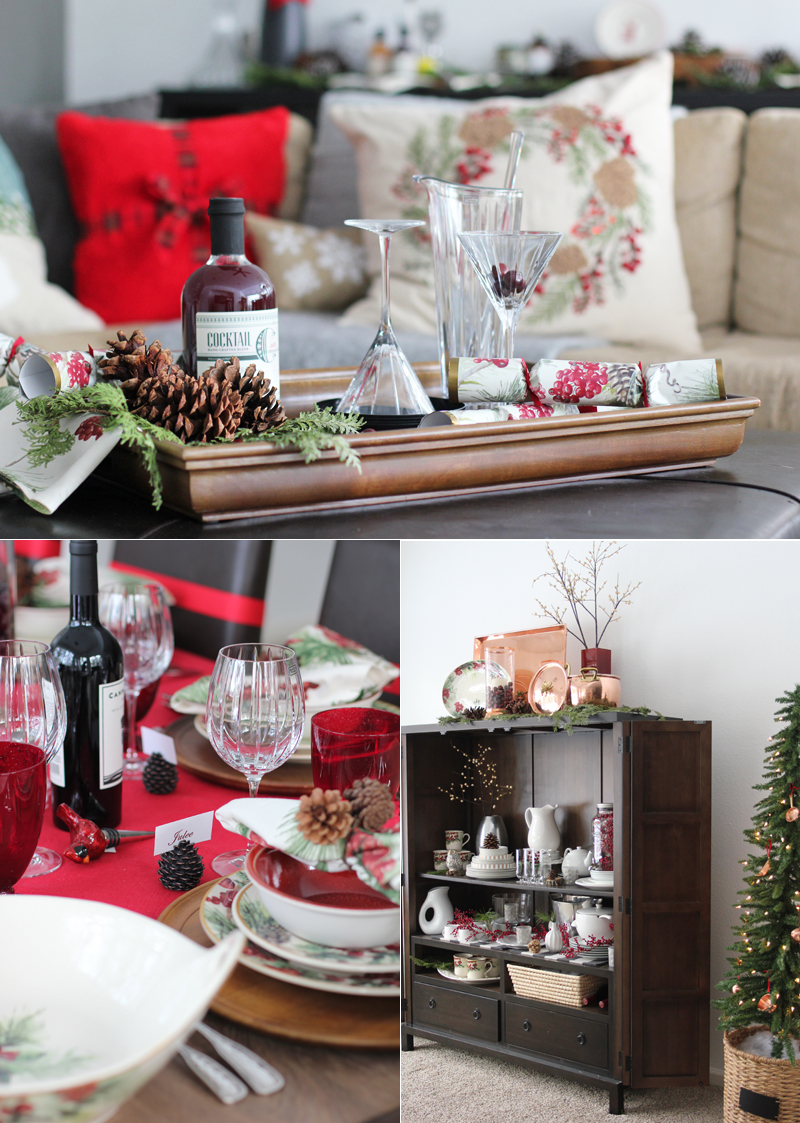 A Christmas Tour of our family and dining rooms styled by Williams-Sonoma