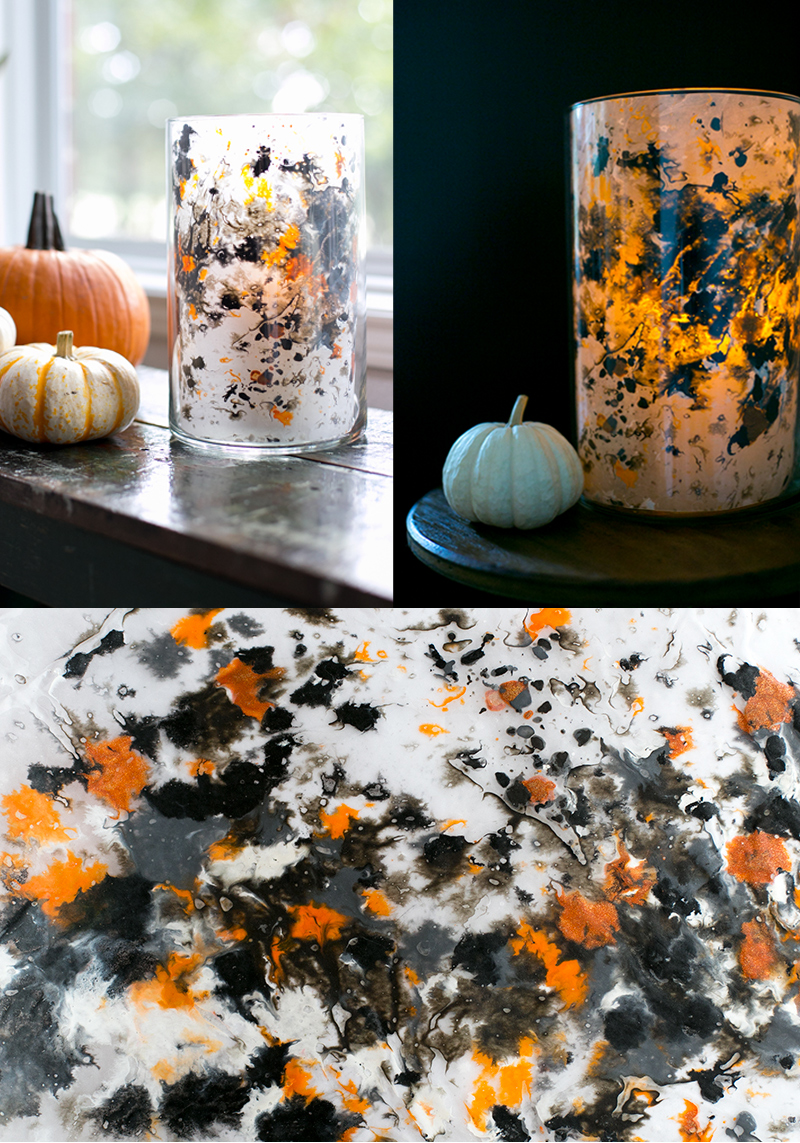 Make gorgeous melted crayon lanterns with this super easy DIY. Perfect holiday activity for kids this Halloween.