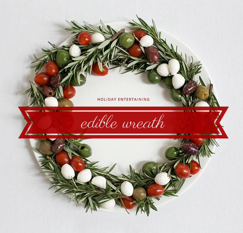 Holiday Recipe: Create a super easy edible wreath for holiday parties, potlucks and other gatherings.
