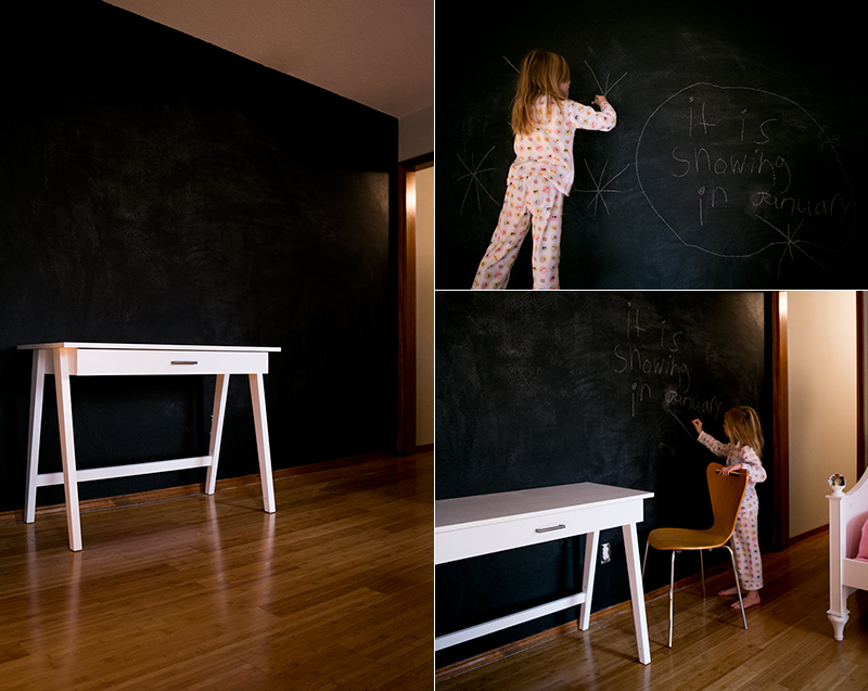Creating A Chalkboard Accent Wall In A Girlu0027s Bedroom. Such A Great Design  For Someone