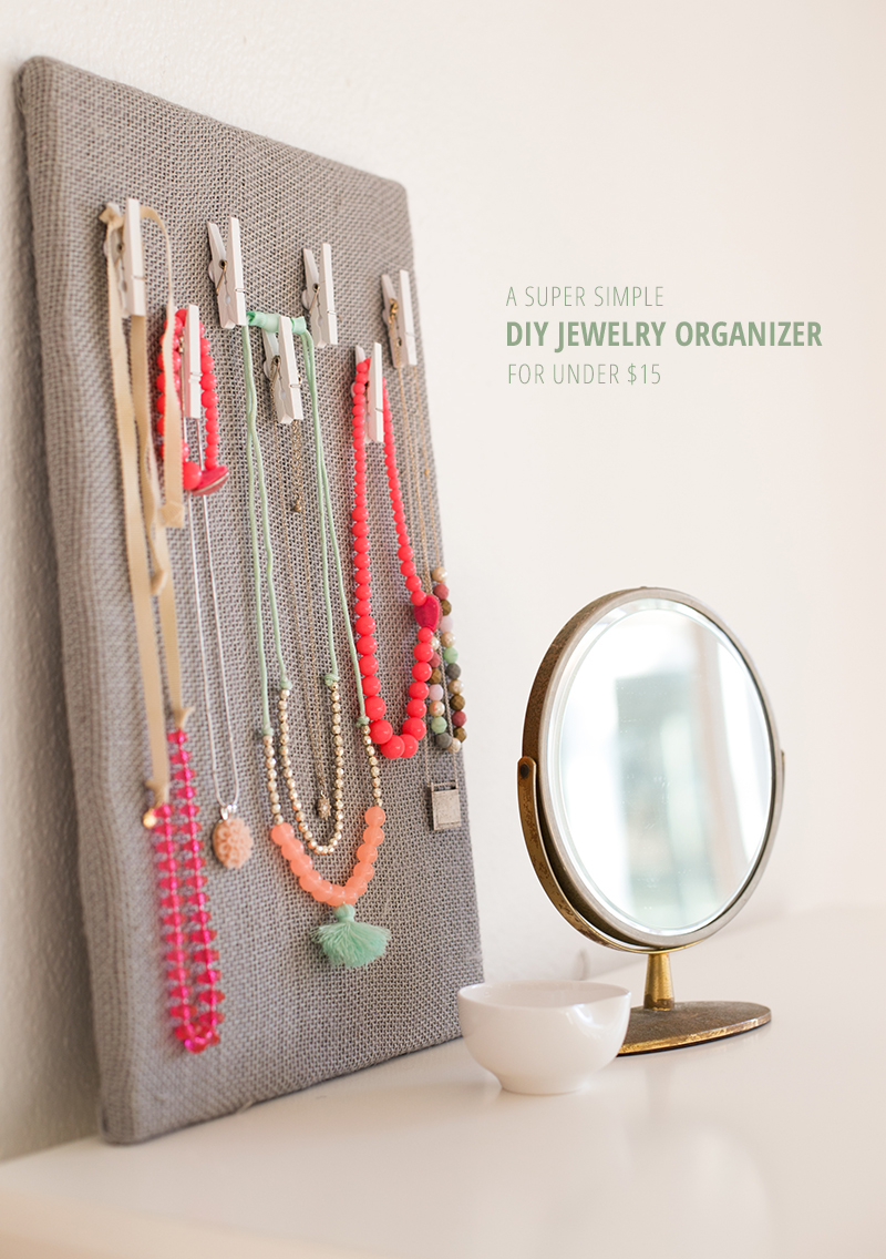 Create a super simple jewelry organizer for under $15.