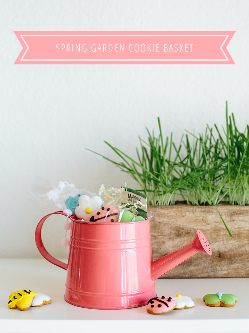 Create this adorable gardening-themed cookie basket for Easter.