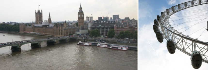 View of Big Ben and Westminster from London Eye