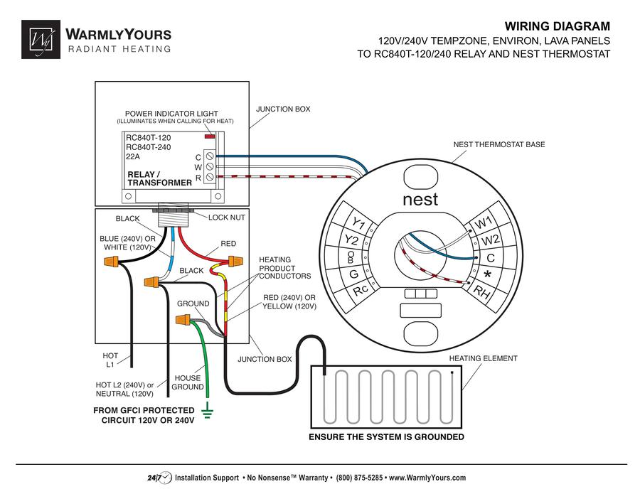 wiring instructions nest