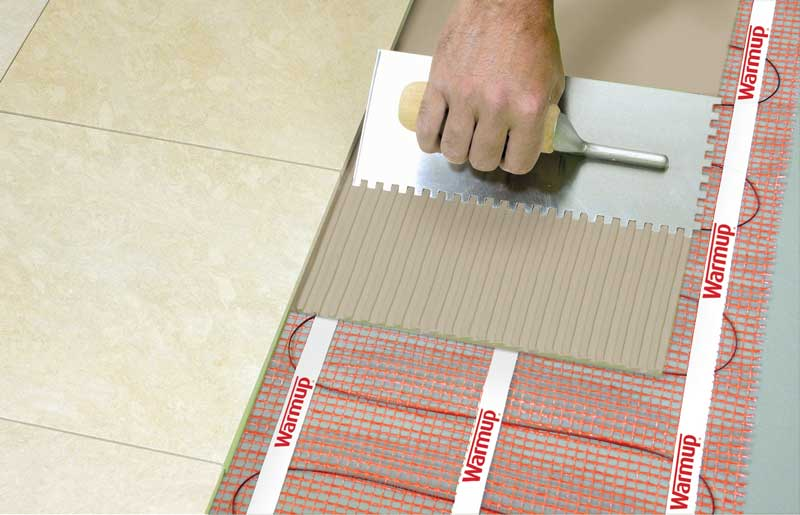 Underfloor Heating Mat Heated Floor Sticky Mat Warmup   Bathroom Floor  Heating Mats