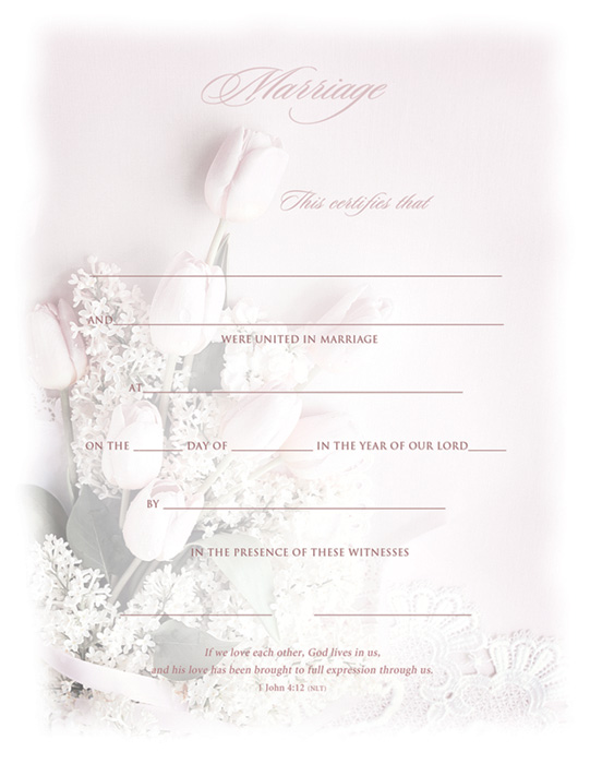 Marriage / Certificate Warner Press