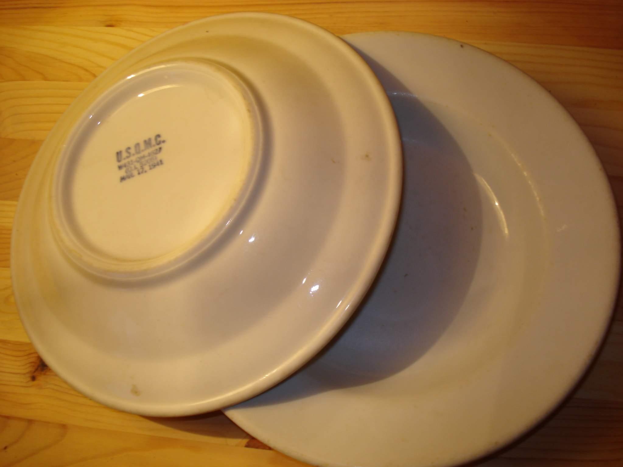 U.S.Q.M.C. Ceramic plates