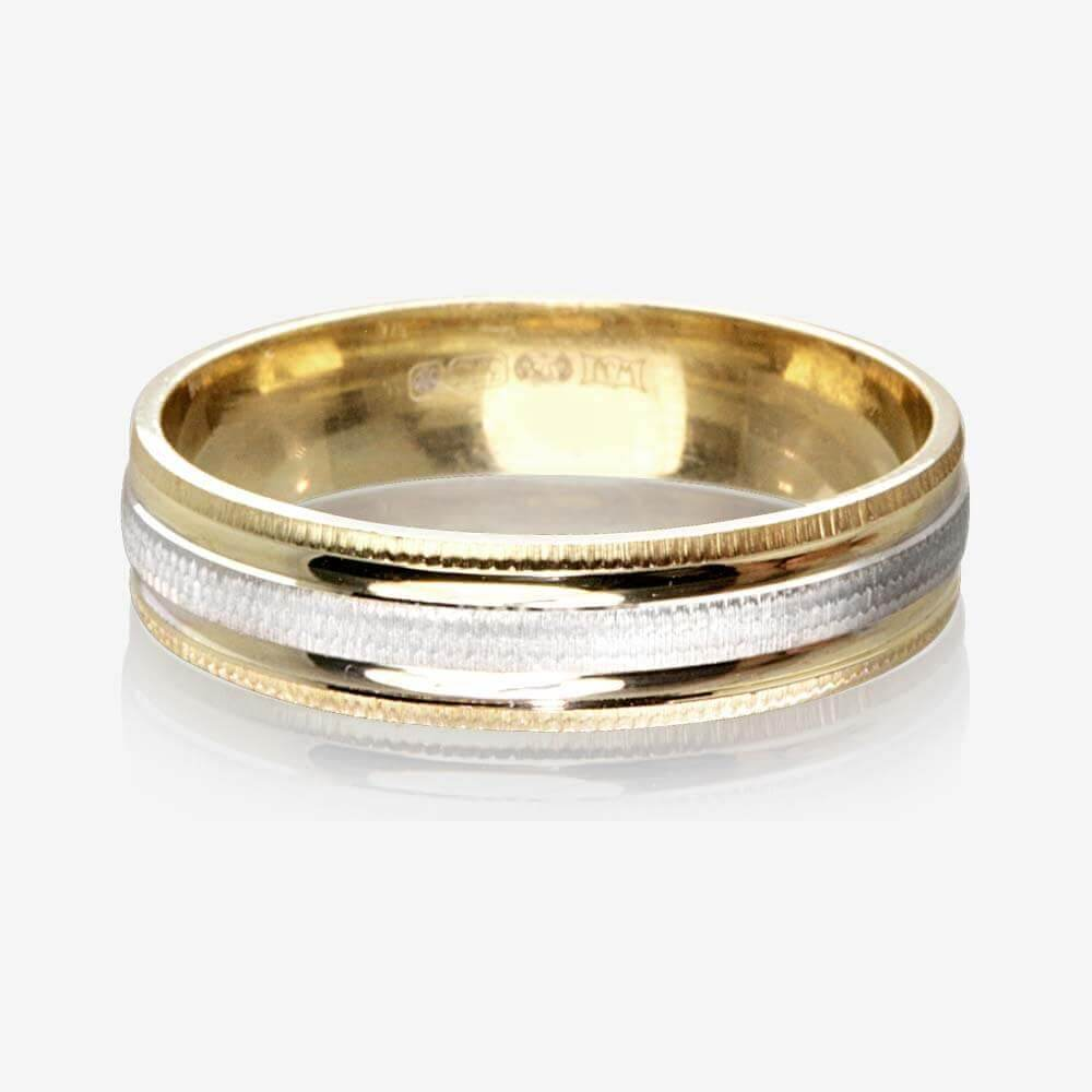 wedding rings wedding rings pictures 9ct Gold 2 Colour Luxury Weight Ladies Wedding Ring 4 5mm
