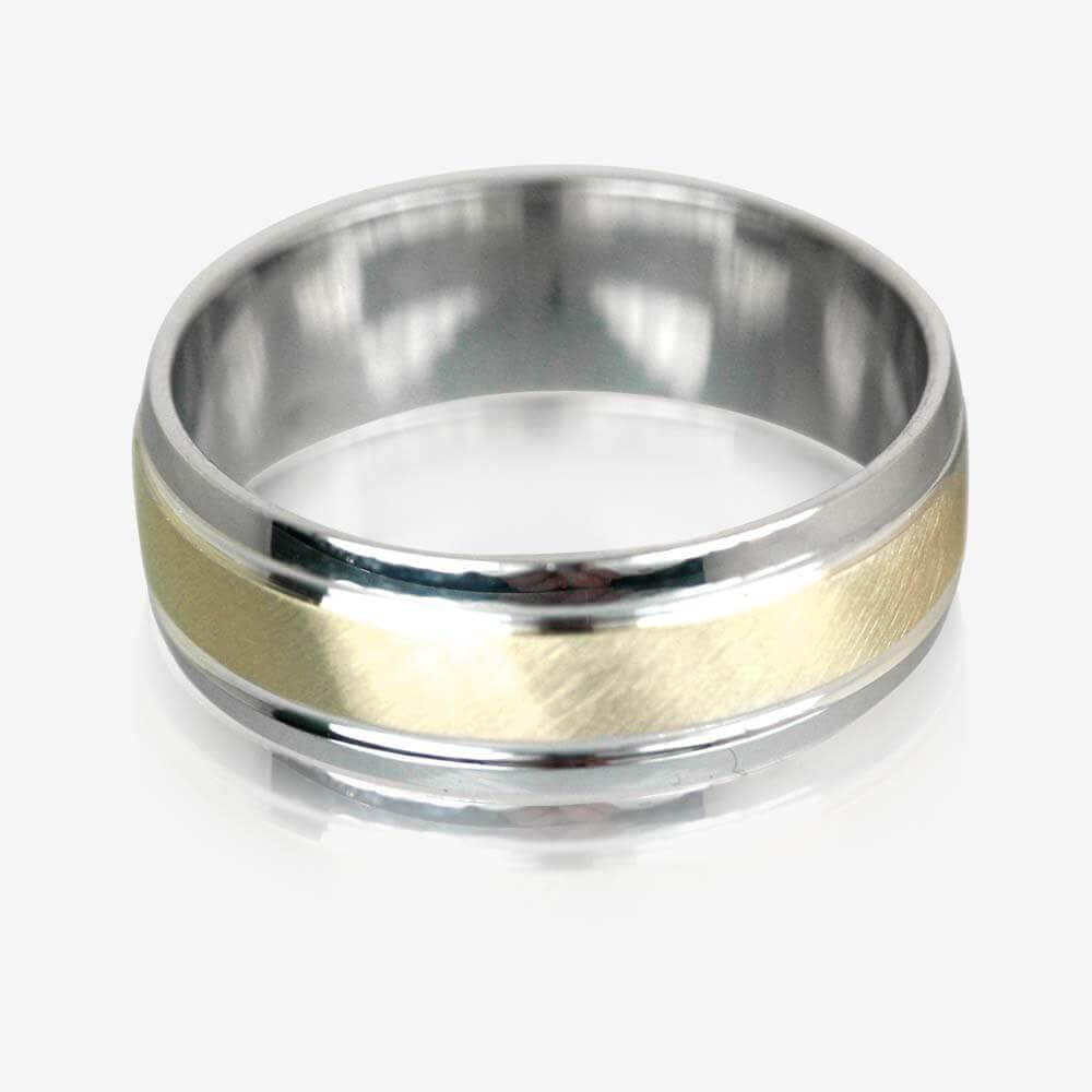 wedding rings wedding ring mens 9ct Gold Sterling Silver Luxury Weight Men s Wedding Ring 7mm