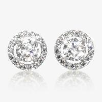 The Amelia Sterling Silver DiamonFlash Cubic Zirconia Stud ...
