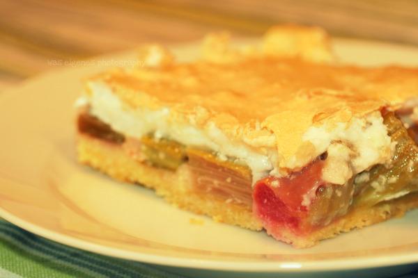 Rezept Rhabarberkuchen mit Baiser.