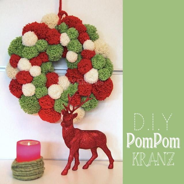 Christmas Crafting: DIY weihnachtlicher PomPom Kranz