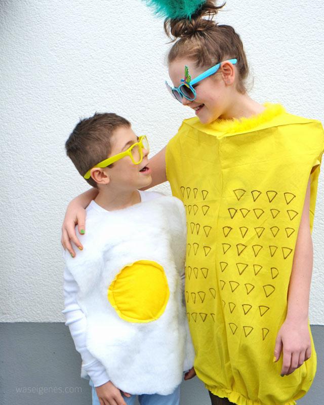 Karneval 2016 | Spiegelei & Ananas Kostüm | DIY | selber nähen | waseigenes.com