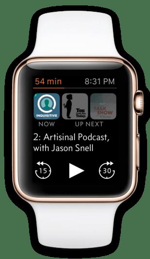 Marco Arment hat seine App Overcast für die Apple Watch deutlich überarbeitet.