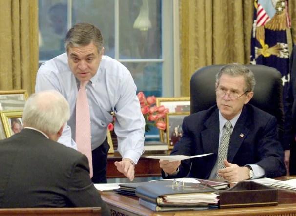 PRESIDENT BUSH AND CIA DIRECTOR TENET IN FILE PHOTO