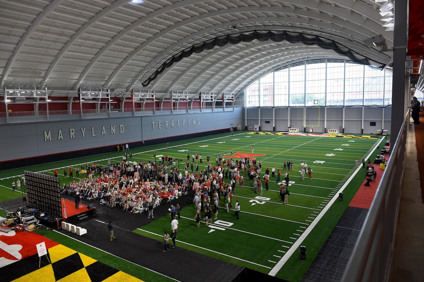Old Maryland Unveils Gleaming New Football Practice Field Washington Post Maryland Unveils Gleaming New Football Practice Field Cole Field House College Park Md Cole Field House Address curbed Cole Field House
