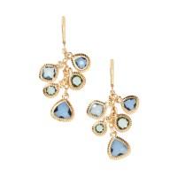 Silver Necklace Pendants: Dana Kellin Stone Hoop ...