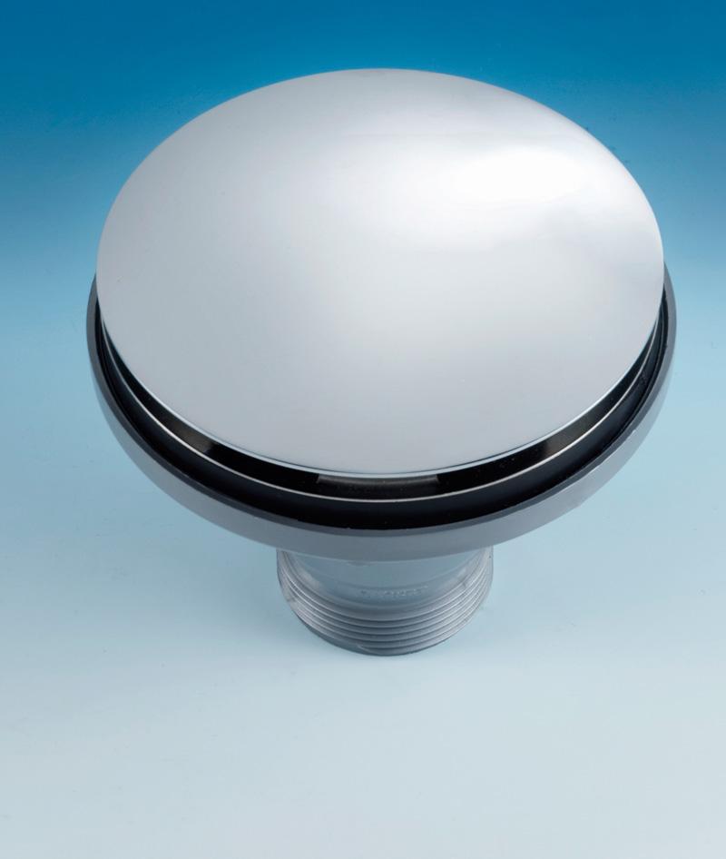 Lira Kitchen Sink Drain Outlet Cover Cap 115mm Satin