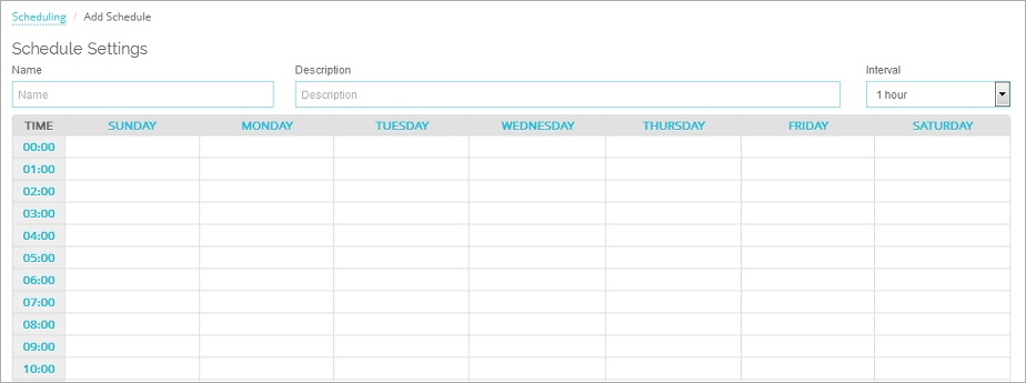 Create Schedules for Firebox Actions