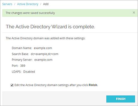 Configure Active Directory Authentication