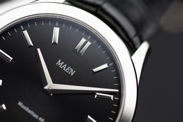 Maen Manhattan steel dial
